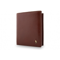 Męski portfel Puccini P1698 w kolorze brązowym z bogatym wyposażeniem