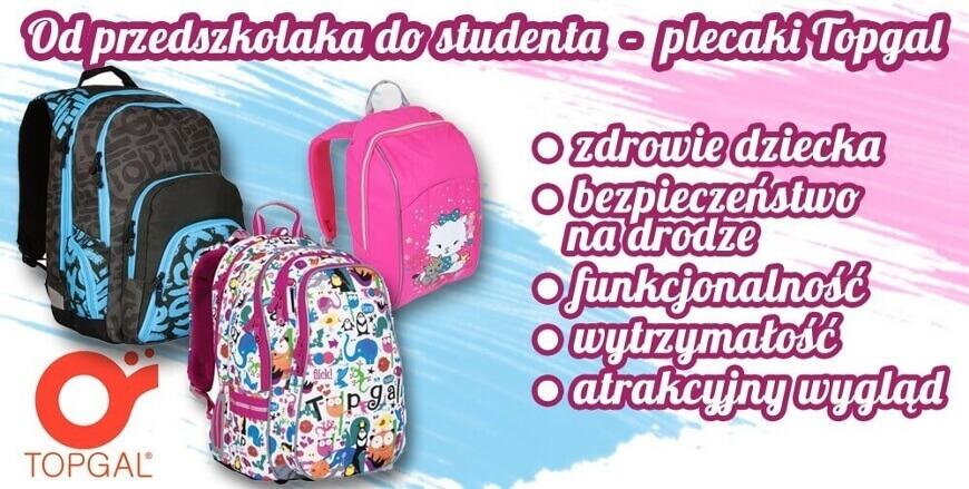 692b0b7db3602 Plecaki Topgal, dla chłopców, dziewczynek, młodzieżowe i szkolne